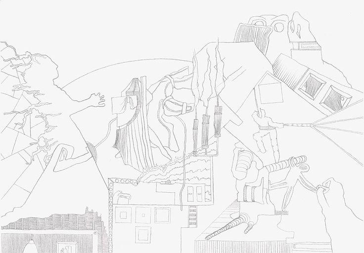 Kunstgalerie KUNSTFLIEGEREI Grafikdesign Zeichnung