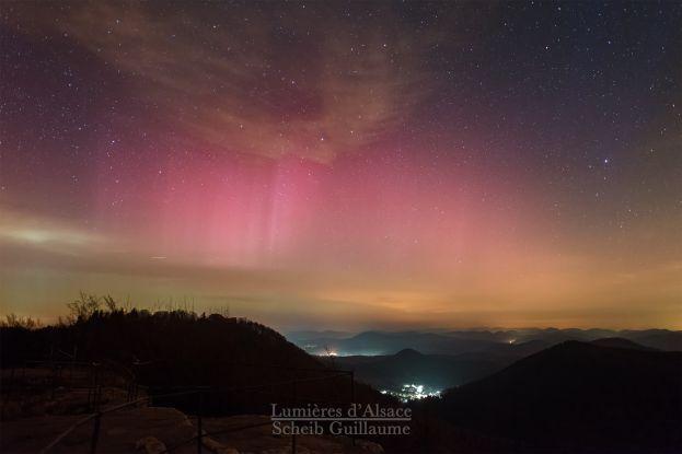 PHOTO: une aurore boréale en Alsace / France Bleu