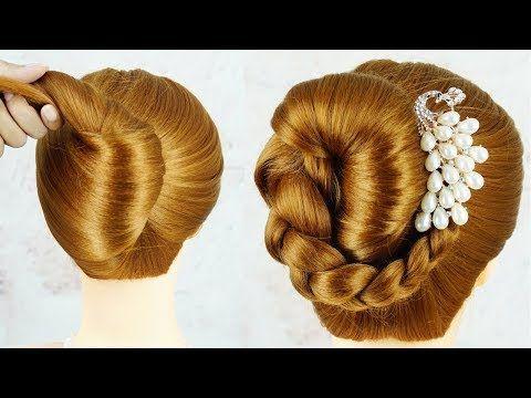 Quick Easy Self Hairstyles For Girls Bridal Hairstyles Wedding Hairstyle For Girls Youtube Hochzeitsfrisuren Frisur Hochzeit Brautfrisur