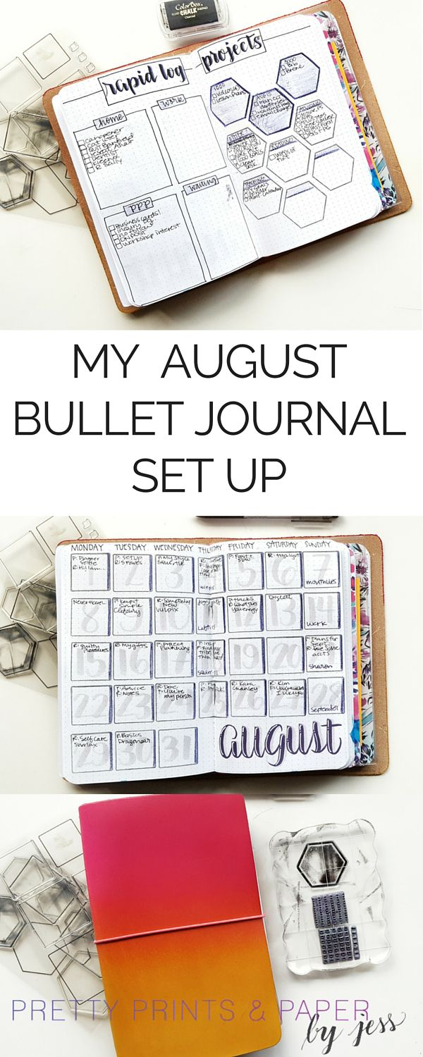 Check out my bullet journal set up in this Foxy Fix traveler's notebook! @prettyprintsandpaper