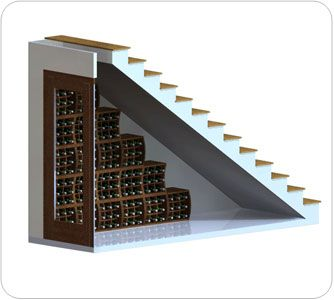under stairs wine cellar | Arkin: Under-stairs wine cellar plan using wine cubes