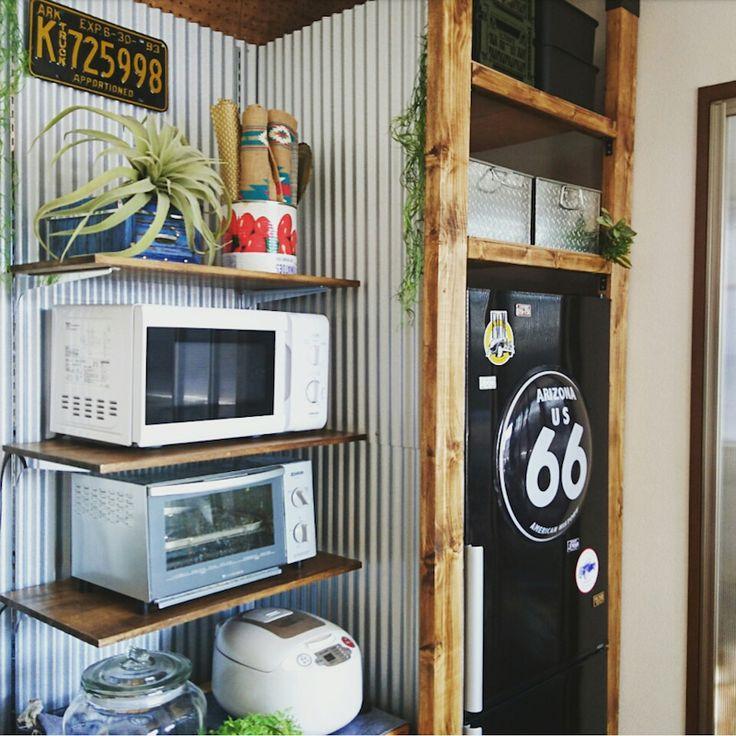 冷蔵庫の横と上のデッドスペースに収納棚を 1151150141さんの毎日がdiyライフ 冷蔵庫の上 収納 冷蔵庫 横 収納 収納
