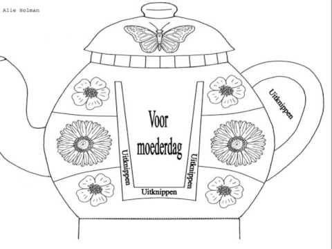 MOEDERDAG: knutselwerkje kopje koffie voor mama - YouTube