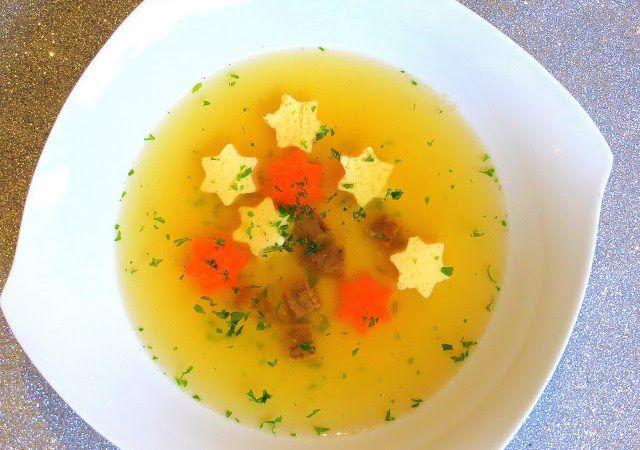 Klare Suppe mit Eierstich – Sternen ♡