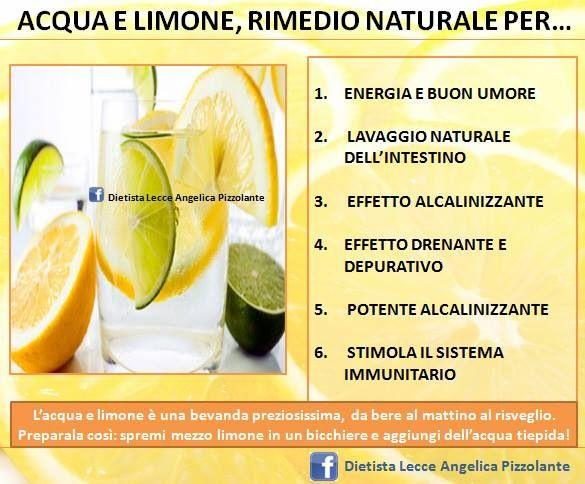 #acqua e #limone #rimedio #naturale per...