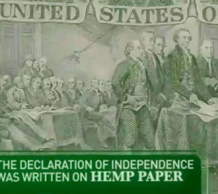 La dichiarazione di indipendenza è stata scritta su carta di canapa.  Hemp Paper