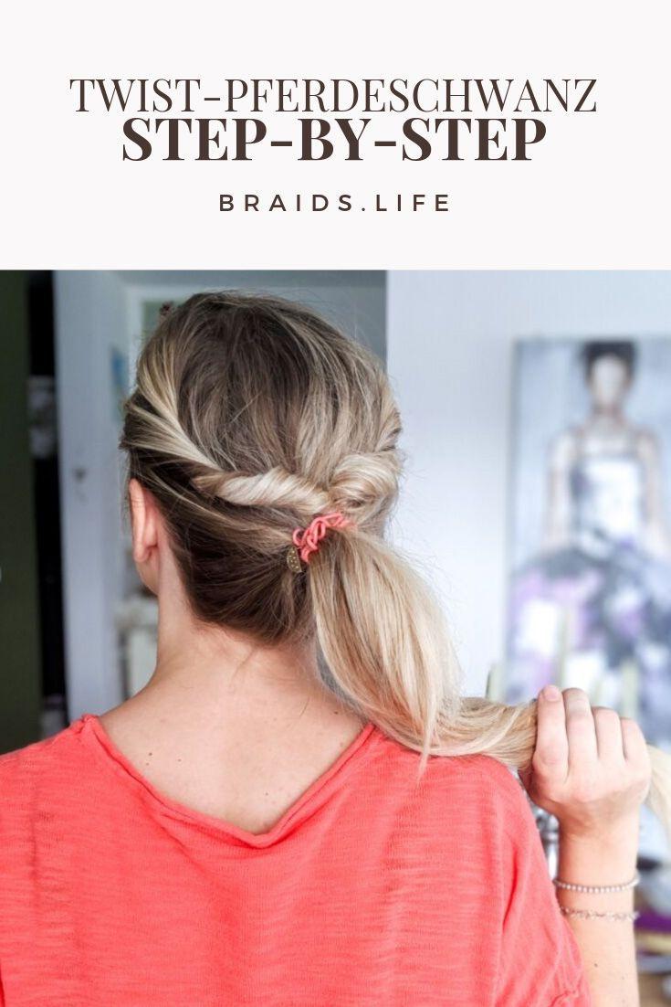Einfache Pferdeschwanz-Frisur  Ponytail hairstyles easy