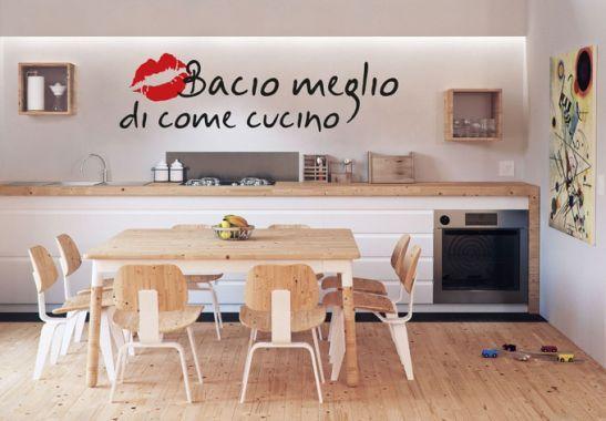 Adesivi murali - Adesivo  murale Bacio meglio... (bicolore)