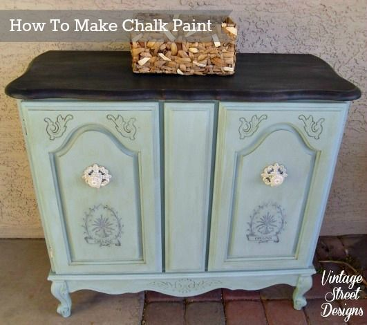 How To Make Chalk Paint...there a several recipes out there but I get asked often how I make mine, so here it is! By Vintage Street Designs