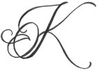 Letter K Tattoo Design add a pink now to the end ? @Kathy Chan Chan Young