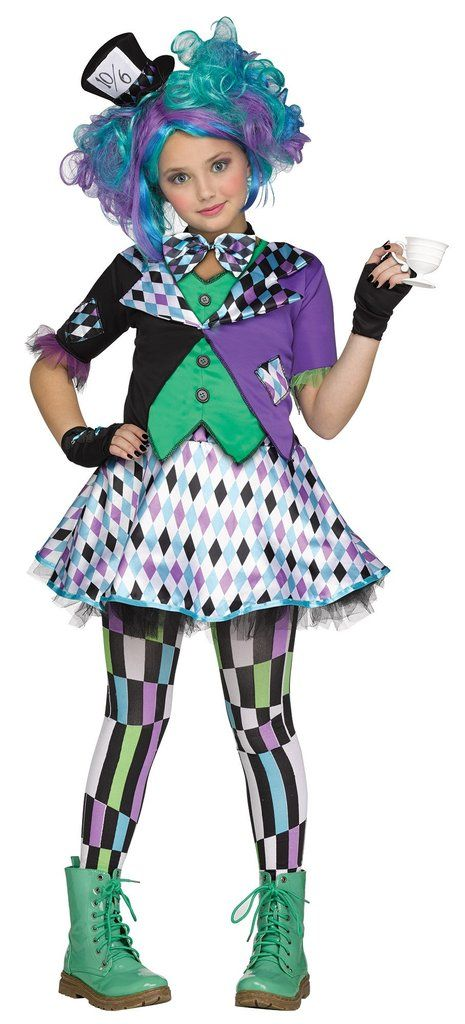 Mad Hatter Girl's Costume