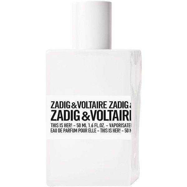 Zadig & Voltaire This Is Her! Eau De Parfum 50ml ($66) ❤ liked on Polyvore featuring beauty products, fragrance, eau de perfume, eau de parfum perfume, floral fragrances and edp perfume
