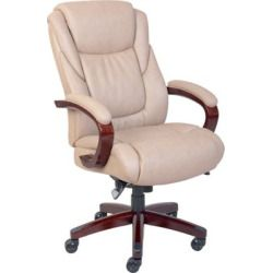 La-Z-Boy Miramar ComfortCore Traditions Executive Office Chair - Taupe