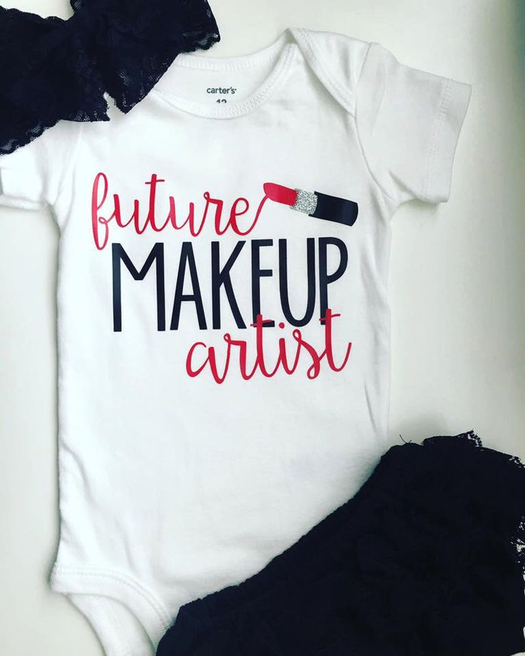 Future Makeup Artist, Makeup Artist like mommy, I love mommy onesie, Glam, Cute Onesie, Quote Onesie by PerfectlyPINKBow on Etsy https://www.etsy.com/listing/463395051/future-makeup-artist-makeup-artist-like