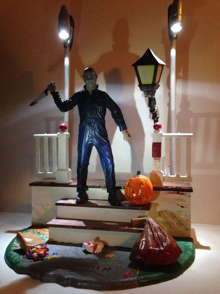 Halloween Michael Myers Action Figure Diorama Myers House Display Set