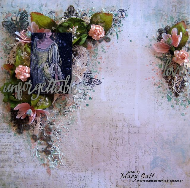 Mary's Crafty Moments: ''Unforgettable Love'' - DT Layout for Words and P...