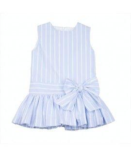 Vestido oxford rayas blancas