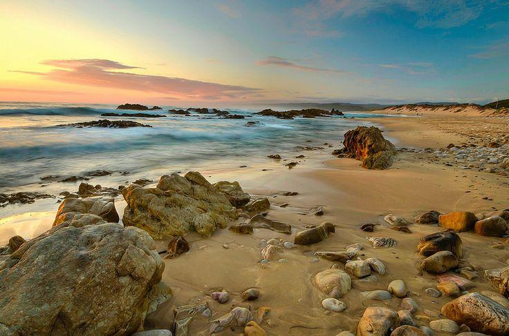 Dreamy sunset  and Pebbles-  Buffalo Bay Buffelsbaai, Eastern Cape South Africa