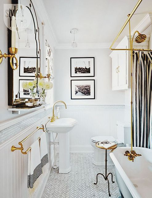 Needing, Wanting, Loving: A Brass Bathroom - The Peak of Tres Chic