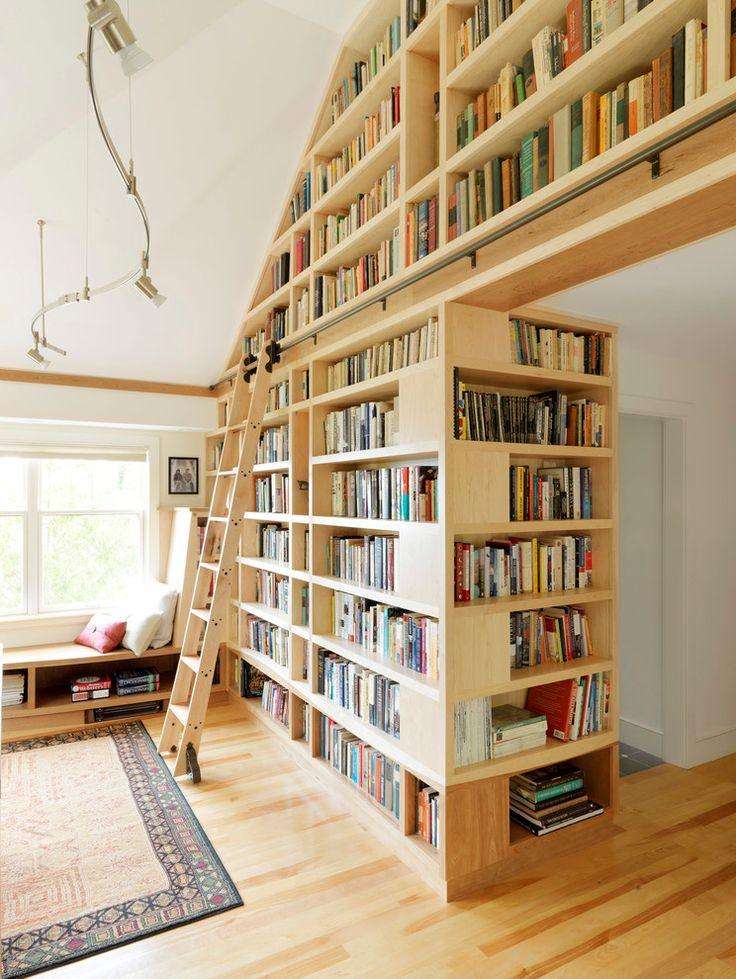 Потрясающий дизайн домашней библиотеки Lake House от Don Welch