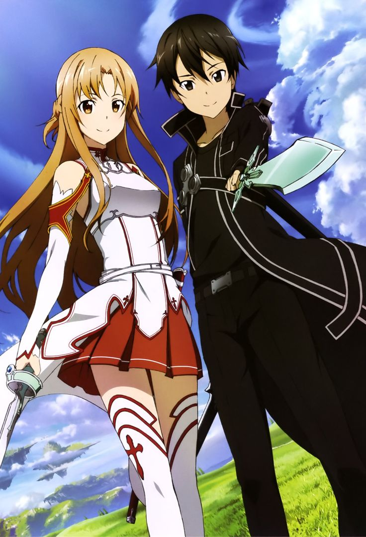 Sword Art work On-line, Asuna + Kirito, official paintings