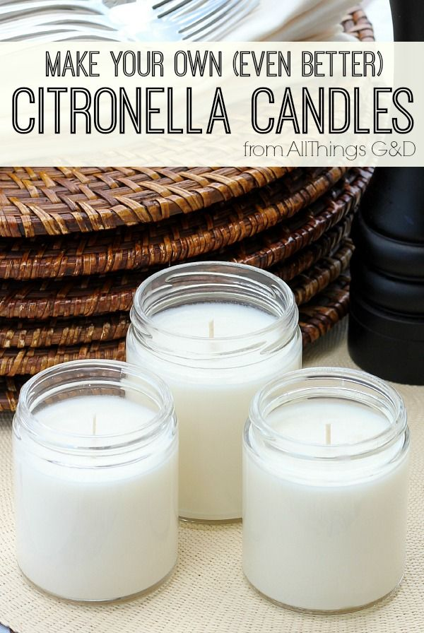 """Keep your #FourthofJuly party or next backyard BBQ mosquito-free with these DIY Citronella Candles!"""