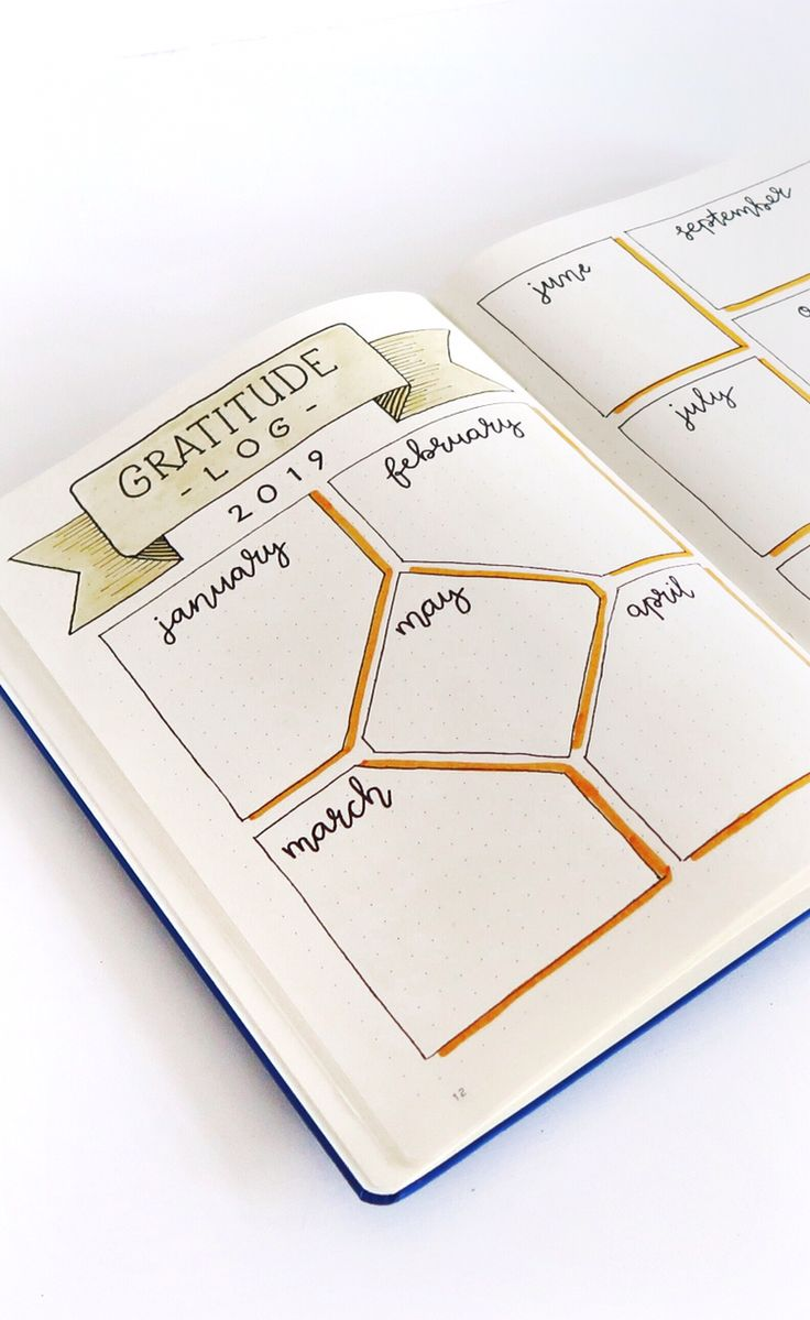 Bullet Journal Gratitude Log