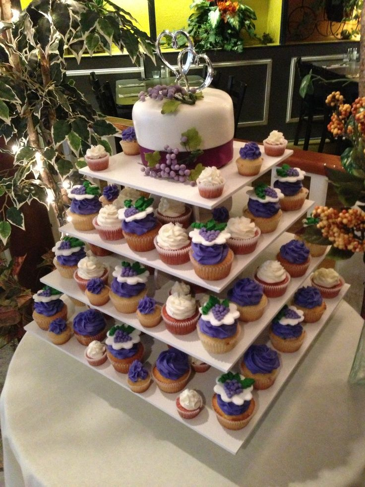 winery themed cake | Wine theme bridal shower (grape cupcake ... | Sweet Confections Cakes