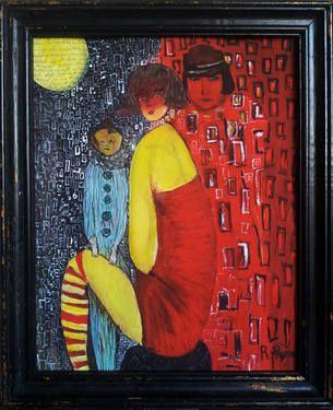 """Saatchi Art Artist Rudina Pema; Painting, """"THREE SISTERS"""" #art"""