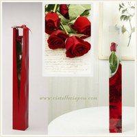 Caja para una rosa individual, bag for a single flower, elegantes bolsas rígidas para una rosa, envoltorios de celofana para una rosa, Cono de PVC para rosa individual, envoltorios para la rosa de Sant Jordi