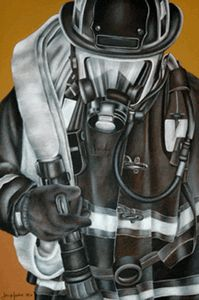 Personalized Firefighter Art.....LOVE THIS!!!!