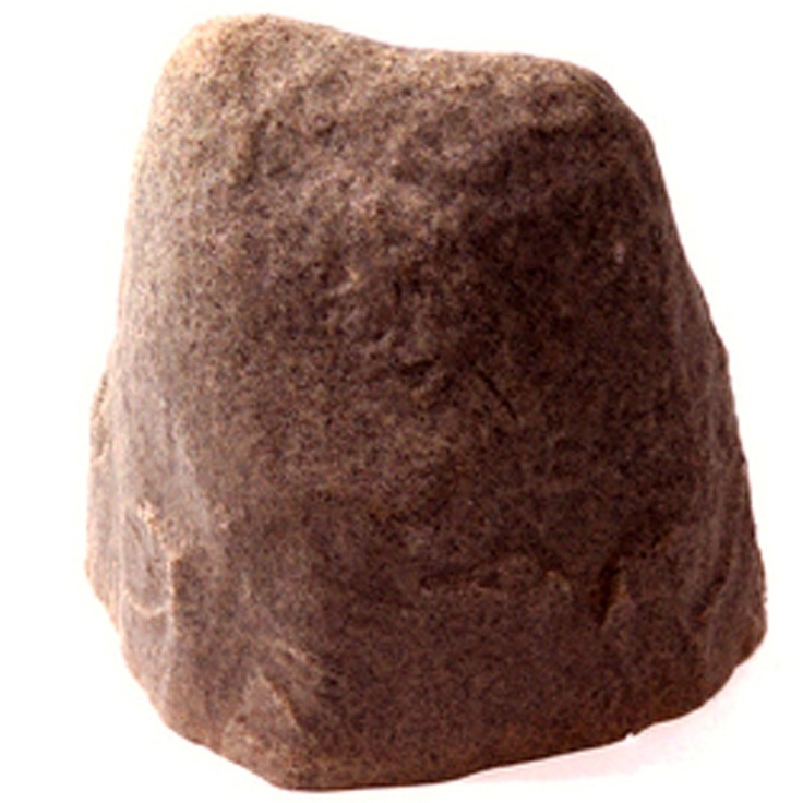"""Small Rock, Sand  14"""" H x 14.9"""" W x 11"""" L. Employ it to hide unsightly electrical or cable boxes, cover up visually unappealing and potentially dangerous wells, pipes or sprinkler valves or simply place in areas that seem empty."""