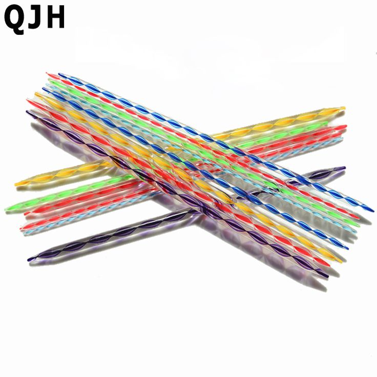 2set 4pcs Knitting Wool Tools 35cm Double Pointed Knitting Needles Plastic Knitting needles Acrylic Crystal Needles Acrylic Yarn