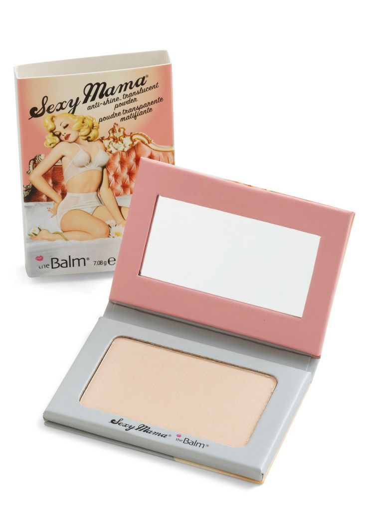 Turn up your natural radiance with help from this ivory Sexy Mama face powder bytheBalm! Committed to making smart, multitasking products for the glam girl on the go,theBalm allows you to feel like your most fabulous self in a flash. Matte and sheer, this anti-shine powder is the finishing touch to any flawless look. This barely-there shade is packaged in a mirrored compact, complete with cheeky, pin-up-inspired graphics - an adorable accompaniment to this demure makeup.