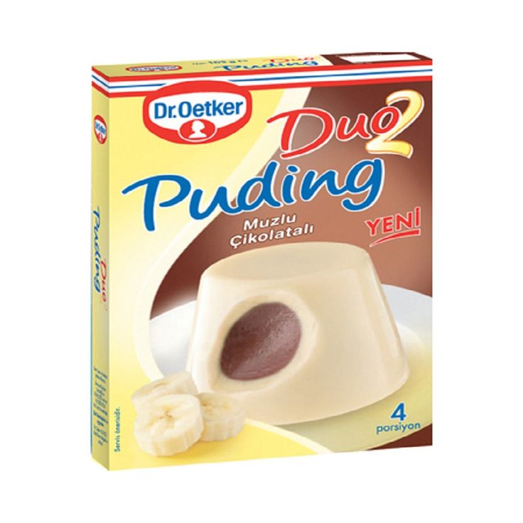 Dr.Oetker Duo2 Cikolatali & Muzlu Puding / Duo Puding Chocolate & Banana - 104 gr