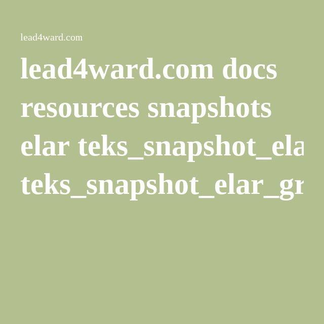 16 best reading workshop images on pinterest reading workshop lead4ward docs resources snapshots elar tekssnapshotelargr05pdf fandeluxe Images