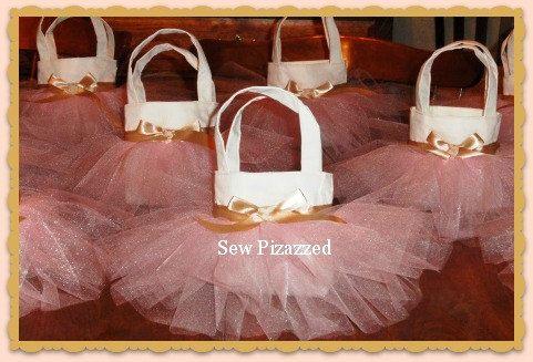 Baby Girl Party Favor Size Tutu Tote Bag. $9.50, via Etsy. Andreana's 1st bday????