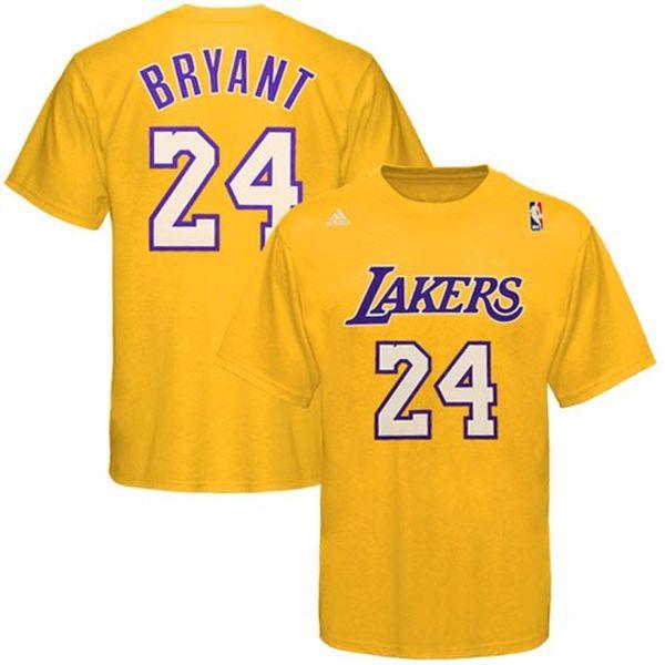 Kobe Bryant Los Angeles Lakers adidas Net Number T-Shirt – Gold - $27.99