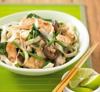 Chicken, broccoli and mushroom stir-fry | Healthy Food Guide (made without beans and spinach)