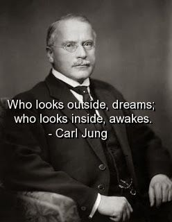 Carl Jung Psychology. Who looks outside, dreams; who looks inside, awakes.
