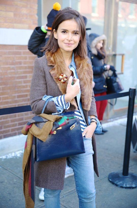 Street looks à la Fashion Week de New York automne-hiver 2014-2015, Jour 4