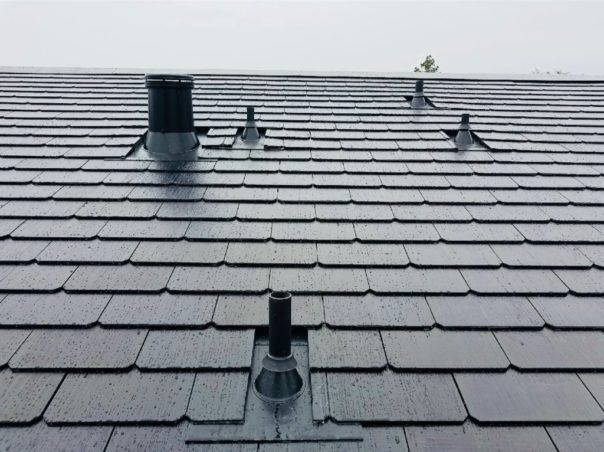 Tesla S Solar Roof Tiles Showcased In New Residential Installation Pictures Solar Roof Tiles Tesla Solar Roof Solar Roof