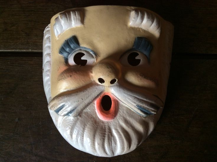 Vintage 1960s French Child Santa Father Christmas Fancy Dress Mask Purchase in store here http://www.europeanvintageemporium.com/product/vintage-1960s-french-child-santa-father-christmas-fancy-dress-mask/