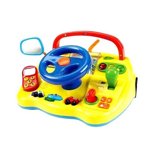 Electronic Toy Dashboard With Steering Wheel Toddler