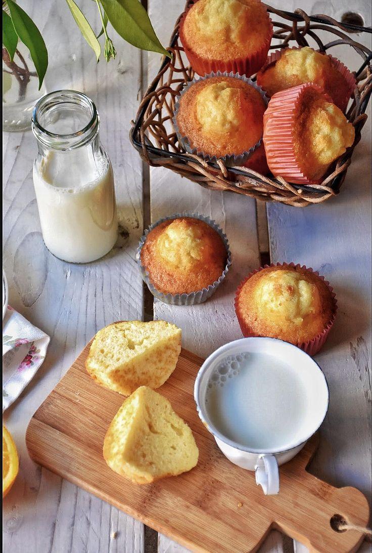 Magdalenas de nata con aroma de naranja / Chez Silvia