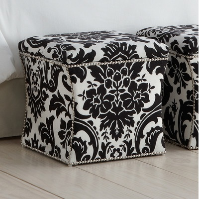 Skyline Furniture Fiorenza Fabric Storage Cube Ottoman | Wayfair