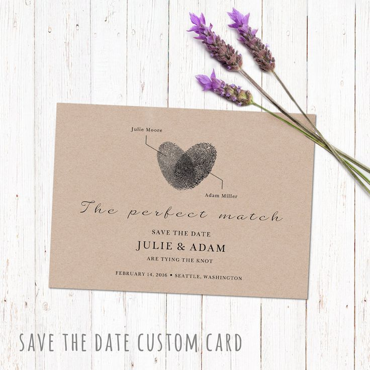 Save the date custom printable card. Engagement announcement personalized card design. Digital file made to order 5x7 inch. by PenguinGraphics on Etsy