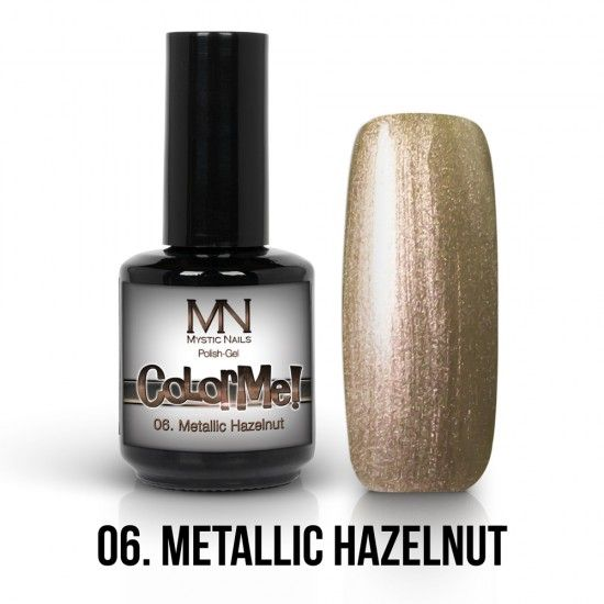 ColorMe! Metallic no.06. - Metallic Hazelnut 12ml gel polish lakkzselé gél lakk nail art mystic nails
