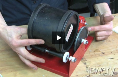 Learn how to use a rotary tumbler to polish metal and metal clay!