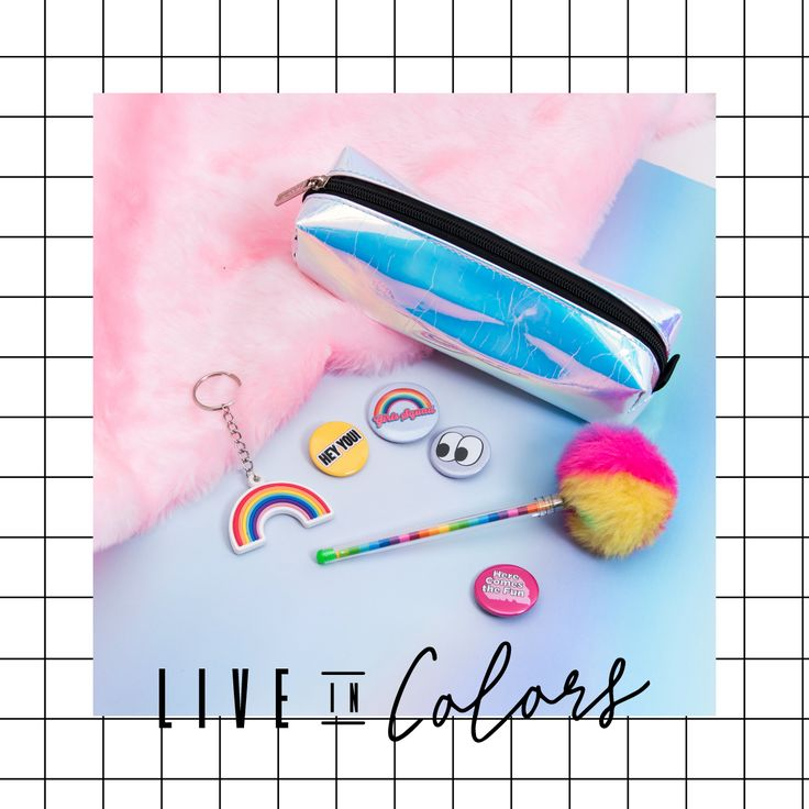 Holographic Rainbow #LiveInColors #Accesorios #Colorful #Rainbow #Holographic #Todomoda